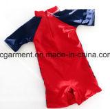아이 소년 수영복. 만화는 낙하산 강하복 수영 착용을 인쇄했다