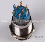 Hban RoHS CE (19mm) DOT-iluminado con interruptor pulsador de símbolo de inicio de la alimentación