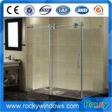 Doccia di vetro della stanza da bagno dell'acciaio inossidabile di Frameless di disegno moderno