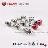 Des flachen runden momentane LED industrielle Drucktastenschalter Hban Cer RoHS(19mm) Energien-Symbol-