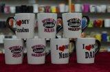 Tazza nera di promozione del caffè della maniglia