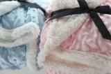 [3د] زيّن لون قرنفل نقطة تصميم شعبيّة طفلة غطاء في صوف فائقة ليّنة طويلة