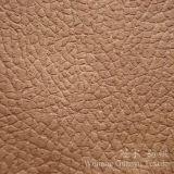 Tissu en cuir de tissu de suède de polyester de capitonnage pour des couvertures de sofa