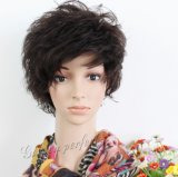 Noir court perruque de cheveux humains/ Women perruque