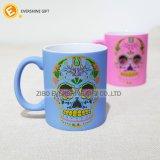 Tatuajes de calavera Mug de cerámica con asa