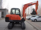 Máquina hidráulica da máquina escavadora da mini esteira rolante amarela de Baoding