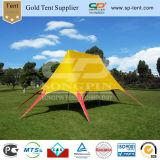 Cubierta impermeable al aire libre del PVC Fácil tienda ascendente de la estrella con la impresión de la insignia