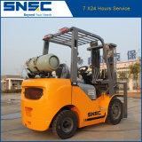 中国Snsc緑2.5ton LPGのフォークリフトの価格