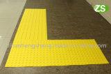 Persianas de goma que pavimentan el azulejo táctil de los ladrillos para la persona oculta