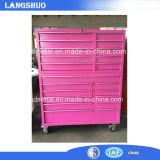 Heiße Verkaufs-Garage-Metallwerktisch-Hilfsmittel-Schrank-Rollen-Brust
