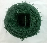 Горячая колючая проволока сбывания покрынная PVC свертываясь спиралью с хорошим качеством