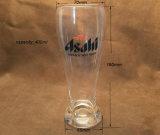 Homem de mão de cristal de 400 ml que sopra a caneca de cerveja