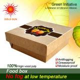2013 o fast food o mais novo que empacota, caixa quadrada do fast food (K135-D)