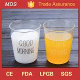 Estilo de encargo de la taza de la leche / del desayuno de Borosilicate de la taza de la leche