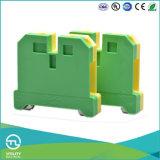 Do PE elétrico da distribuição de Utl bloco terminal à terra com contato de cobre