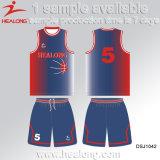 Buen diseño de Healong con el baloncesto 100% de los hombres del poliester de la ropa de la alta calidad Jersey
