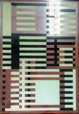 예술 분할은 장식 건물에 의하여 구른 거품 패턴 페인트 유리제 단지 문 Windows 예술을 부드럽게 했다