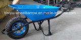Singola carriola Wb6400 della rotella con il lato d'arricciatura