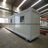 販売のための20FTの鉄骨構造のフラットパックの容器の家