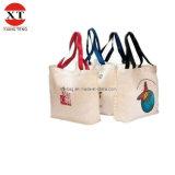 Мешок Tote холстины хлопка, хозяйственная сумка хлопка (FLY-MB01)