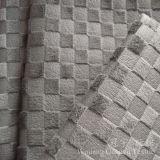 Polyester 100% de tissu de velours de pile de circuit de configuration de réseau pour le sofa