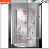 4 -19mm Acid Etched & Silk Screening Safety Shower Glass