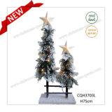 Decoratie van de Kerstboom van de Pijnboom van pre-Lit van H65cm de Sneeuw Kunstmatige