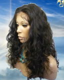 De losse Pruiken van het Kant van het Menselijke Haar van de Krul Indische Braziliaanse Maagdelijke in Voorraad, Snelle Verzending, de Maker van de Pruiken van het Kant