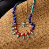 Bohemian coloridos cordones Colgante Collar Cadena multicapa para la Mujer