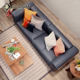 北欧の韓国のシンプルな設計の革ファブリック家庭内オフィスのコーナーのソファー