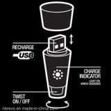 USBの充電器(RL5003)が付いている棒びんのコルクストッパーLEDライト