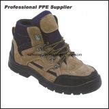 Alto calzado de la seguridad del cuero genuino del corte con la punta de acero