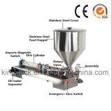 Halbautomatische pneumatische flüssige Füllmaschine-/Paste-kosmetische Füllmaschine