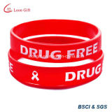 Custom Inject Color Logo Silicon Bracelet for Gift