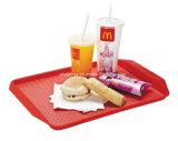 Comida de plástico que serve snacks Bandeja Bandeja Restaurante da bandeja