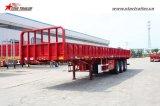 세 배 차축 높은 침대를 가진 평상형 트레일러 측벽 트럭 트레일러