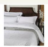 Insieme bianco candeggiato dell'assestamento dell'hotel della tela di base dell'hotel del jacquard