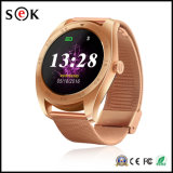 2017 Nuevo reloj inteligente K89 Ronda Bluetooth inteligente reloj teléfono para el teléfono Android y iPhone ISO con monitor del ritmo del corazón dispositivos portátiles
