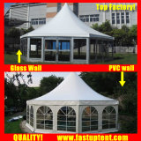 結婚式の直径6mのための良質のゆとりの六角形のテント30人のSeaterのゲスト