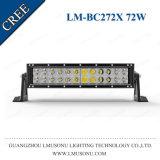 Barre 72W d'éclairage LED incurvée par 4X4 de CREE de rangées des pièces d'auto deux de qualité de Lmusonu