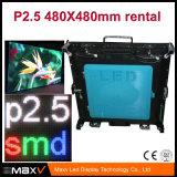 Экран дисплея высокого качества P2.5 крытый СИД с алюминиевым шкафом Умирать-Отливки