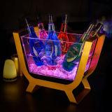 Ведро льда Acrylic СИД творческой штанги прозрачное светящее