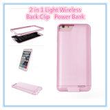 3000mAh voor Geval 2 van de Batterij van iPhone ultra Slank Dun in 1 AchterBank van de Macht van de Klem met het Uitstekende Gevoel van de Aanraking