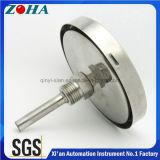 Termômetro bimetálico do aço inoxidável com conexão traseira ou inferior ou universal