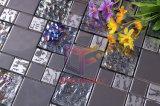 Kristall und Metal Mixed Edelstahl Glass Mosaic Tile (CFM763)