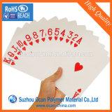 La impresión Offset de hojas de PVC blanco rígidos rollo para cartas de póquer