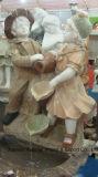 동물성과 인간적인 대리석 새기는 조경 동상 조각품
