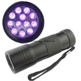 12 pcs 365-395nm AAA LED UV Violet Lampe torche à LED