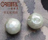 Tasto verde chiaro della perla di figura rotonda (A-502)