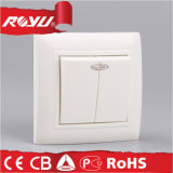 Estilo Europeu Flush Montado Power Flat Push Button Wall Switch